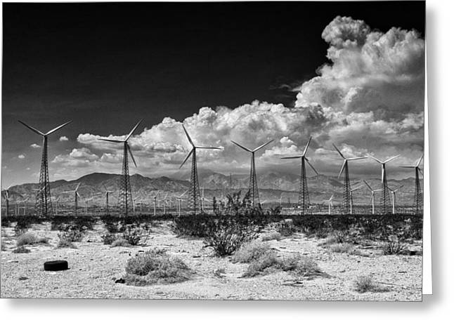 Palm Springs Life Greeting Cards - OLD SCHOOL Palm Springs Greeting Card by William Dey