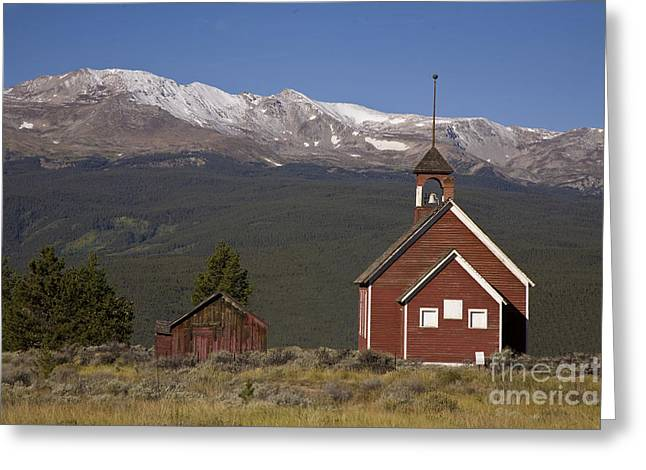 Schoolhouse Greeting Cards - Old Schoolhouse Greeting Card by Timothy Johnson