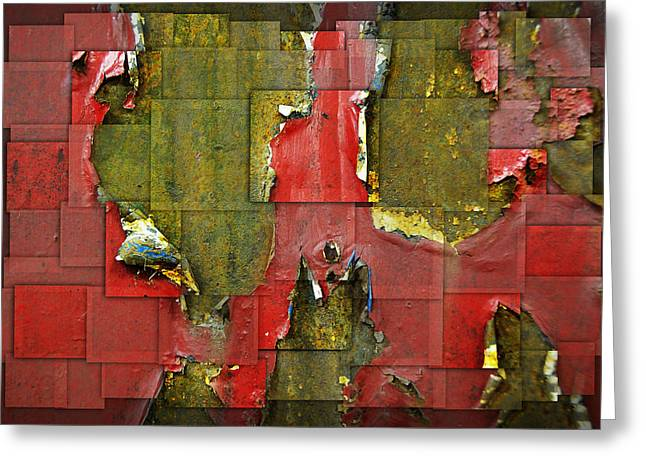 Abstract Digital Photographs Greeting Cards - Old Seat Greeting Card by Steven  Michael