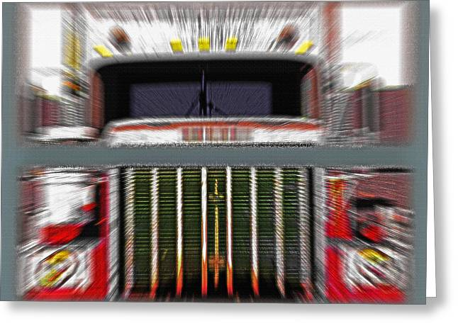 Industrial Concept Mixed Media Greeting Cards - Old Semi - Head-On - Diptych Greeting Card by Steve Ohlsen