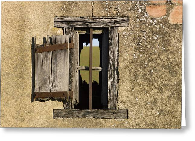 Tiny Photographs Greeting Cards - Old shack Greeting Card by Bernard Jaubert