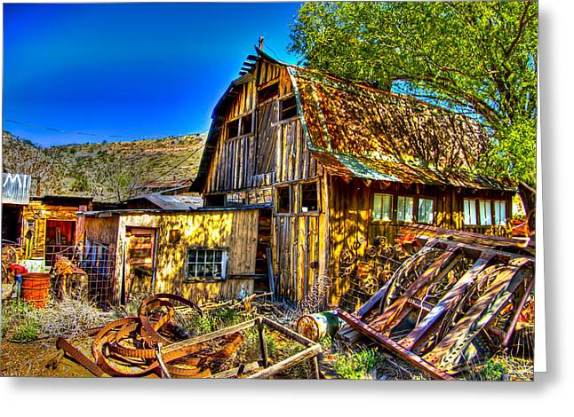 Old Shed Greeting Card by Jon Berghoff
