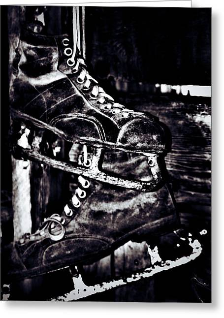 Edmonton Photographer Greeting Cards - Old skate  Greeting Card by Jerry Cordeiro