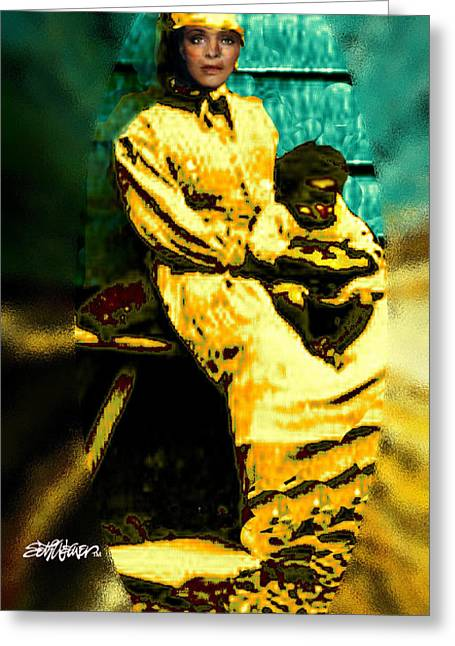Slavery Mixed Media Greeting Cards - Old South Madonna Greeting Card by Seth Weaver