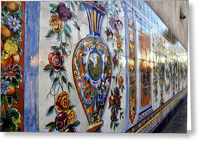 Ybor City Greeting Cards - Old Spanish Tiles Greeting Card by David Lee Thompson