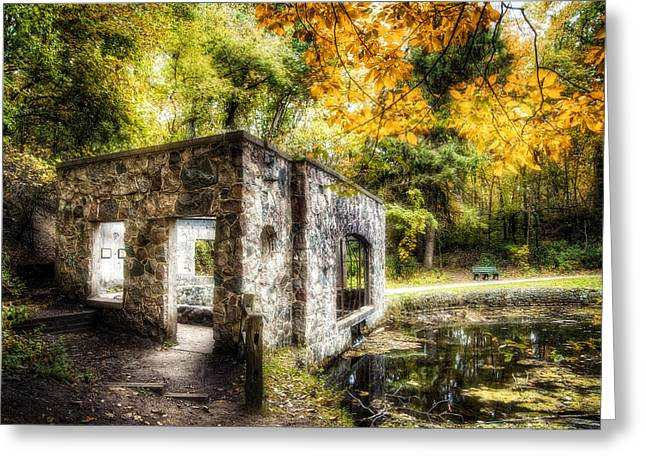 Moraine Greeting Cards - Old Spring House Color Greeting Card by Scott Norris