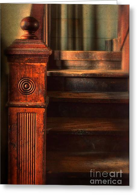 Haunted Woods Greeting Cards - Old Staircase Greeting Card by Jill Battaglia