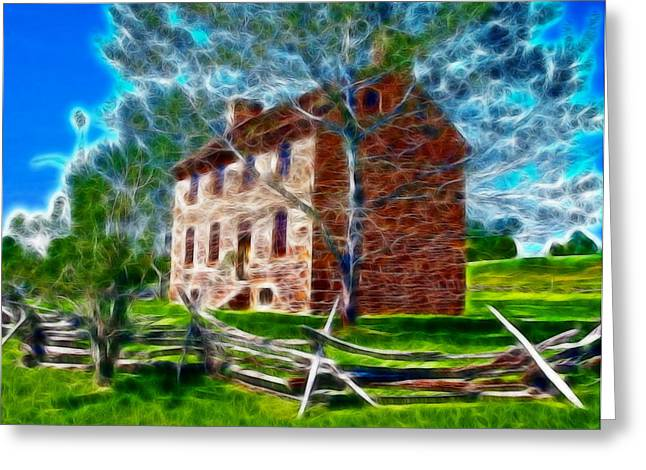 Stone House Drawings Greeting Cards - Old Stone House Greeting Card by Paul Van Scott