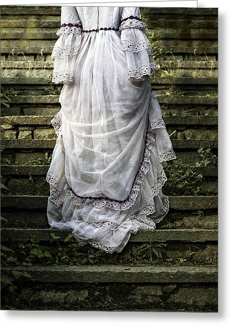 Wedding Garment Greeting Cards - Old Stone Stairs Greeting Card by Joana Kruse