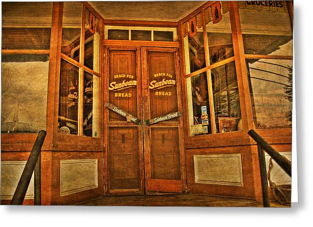 Store Fronts Greeting Cards - Old Store front Greeting Card by Todd Hostetter