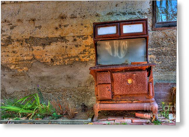 Nahmias Greeting Cards - Old Stove Greeting Card by Eyal Nahmias