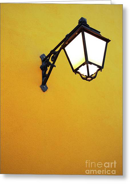 Notice Greeting Cards - Old Street Lamp Greeting Card by Carlos Caetano