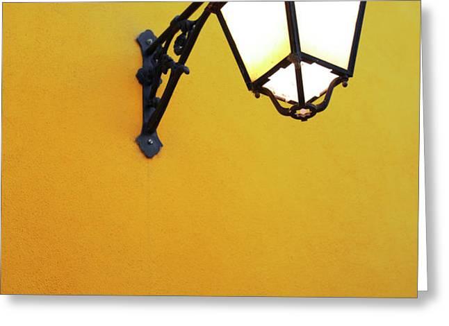Old Street Lamp Greeting Card by Carlos Caetano