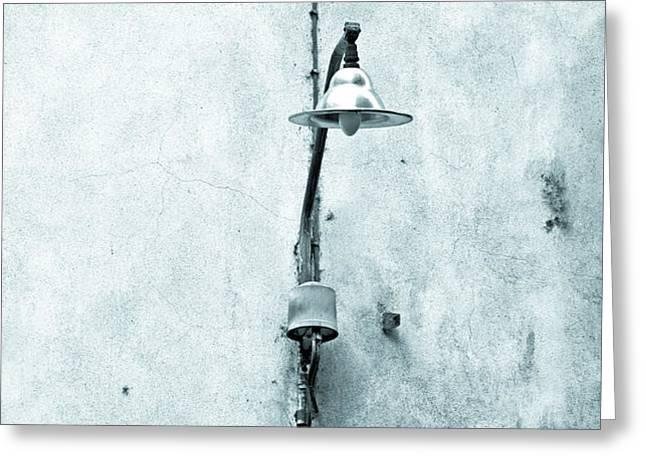 Old street lamp Greeting Card by Silvia Ganora