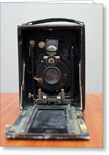 Reflex Greeting Cards - Old Style Bellow Camer Greeting Card by Photostock-israel