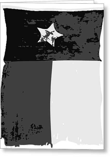 Austin Artist Digital Art Greeting Cards - Old Texas Flag BW3 Greeting Card by Scott Kelley