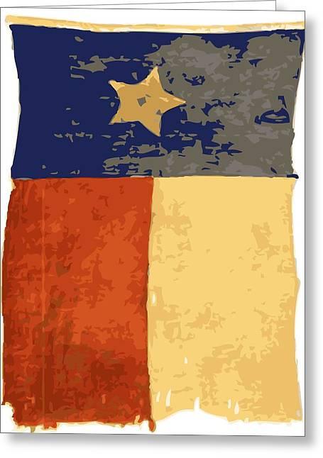 Austin Artist Digital Art Greeting Cards - Old Texas Flag Color 16 Greeting Card by Scott Kelley