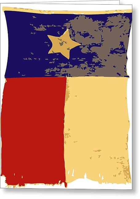 Austin ist Digital Greeting Cards - Old Texas Flag Color 6 Greeting Card by Scott Kelley