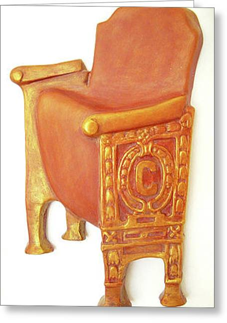 Ballet Reliefs Greeting Cards - Old Theatre Chair Greeting Card by Neda Laketic