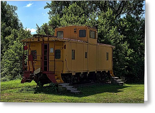 Caboose Greeting Cards - Old Time Caboose Greeting Card by Tim McCullough