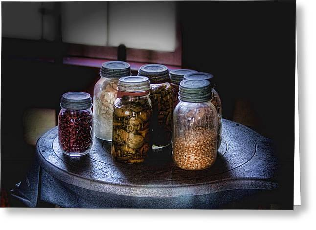 Canned Goods Greeting Cards - Old-Time Canned Goods Greeting Card by Tom Mc Nemar