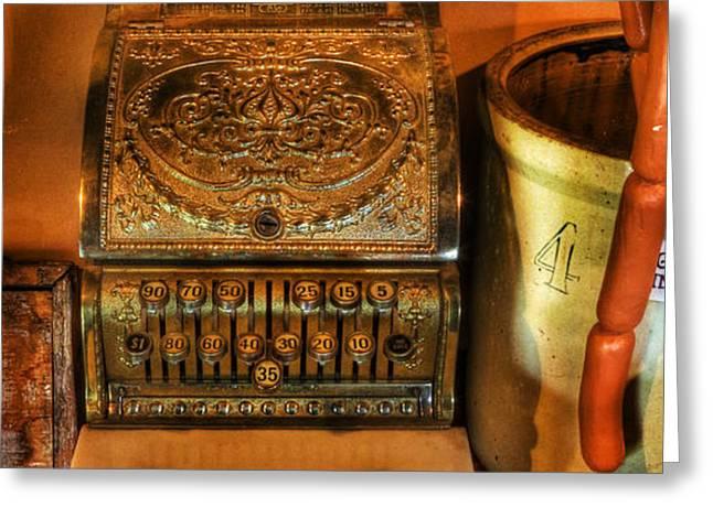 Old Time Cash Register - General Store - vintage - nostalgia  Greeting Card by Lee Dos Santos