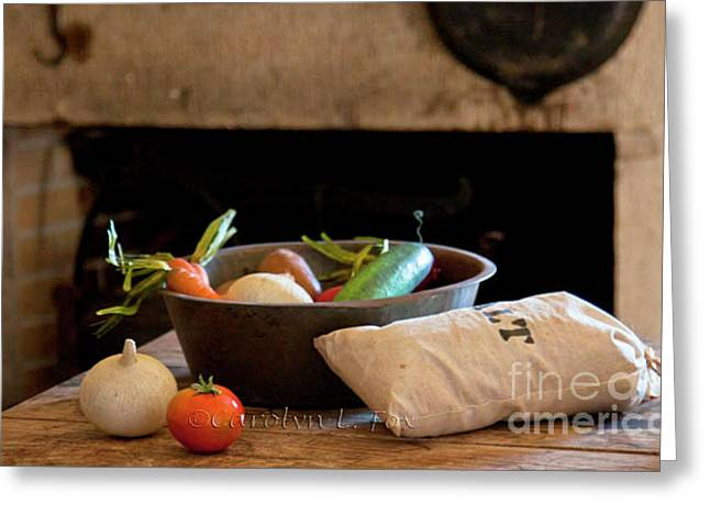 Tomoato Greeting Cards - Old Time Kitchen Greeting Card by Carolyn Fox