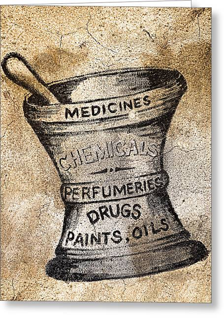 Old Time Medicine Ad Greeting Card by Wendy White