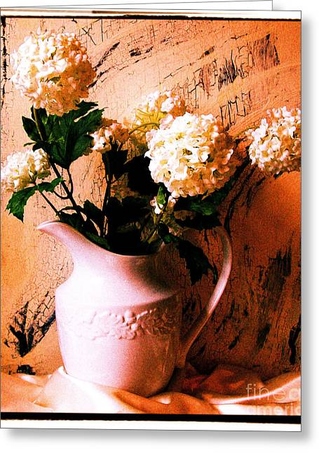 Old Pitcher Greeting Cards - Old Time Picture Greeting Card by Marsha Heiken
