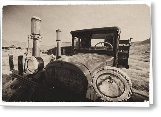Old Time Picture Of A Truck Greeting Card by George Oze