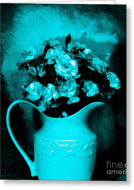 Old Time Pitcher Bouquet Greeting Card by Marsha Heiken
