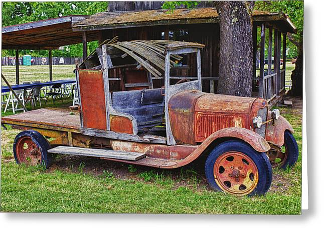 Travel Truck Greeting Cards - Old timer Greeting Card by Garry Gay