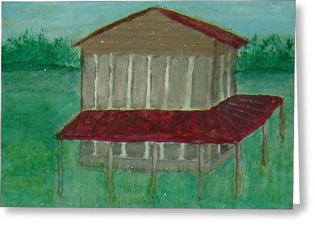 Sutton Paintings Greeting Cards - Old Tobacco Barn Greeting Card by James Sutton