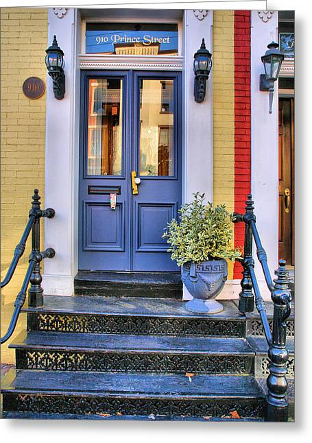 Entryway Greeting Cards - Old Town Doorway Greeting Card by Steven Ainsworth