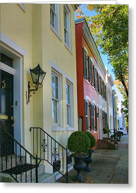 Old House Photographs Greeting Cards - Old Town Homes II Greeting Card by Steven Ainsworth
