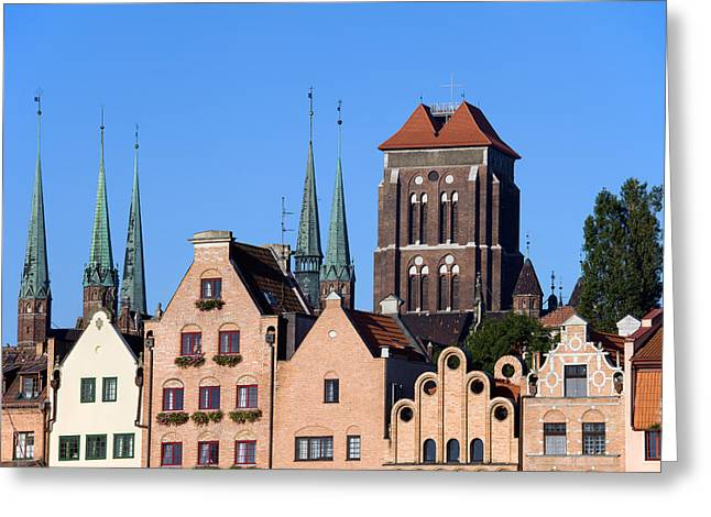 Polish Old Town Greeting Cards - Old Town in Gdansk Greeting Card by Artur Bogacki