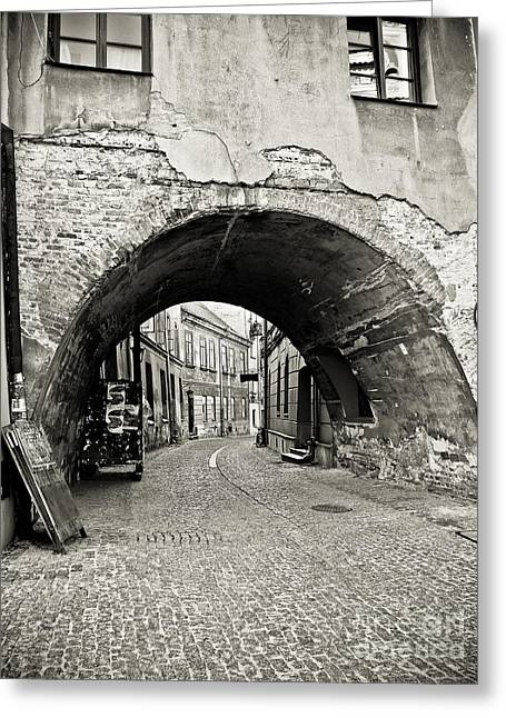 Old Roadway Greeting Cards - Old Town in Lublin - Poland Greeting Card by Natalia Babanova