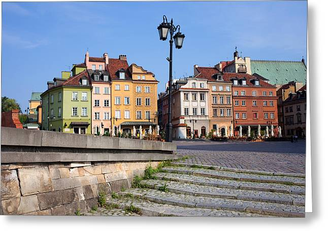 Recently Sold -  - Polish Culture Greeting Cards - Old Town in Warsaw Greeting Card by Artur Bogacki