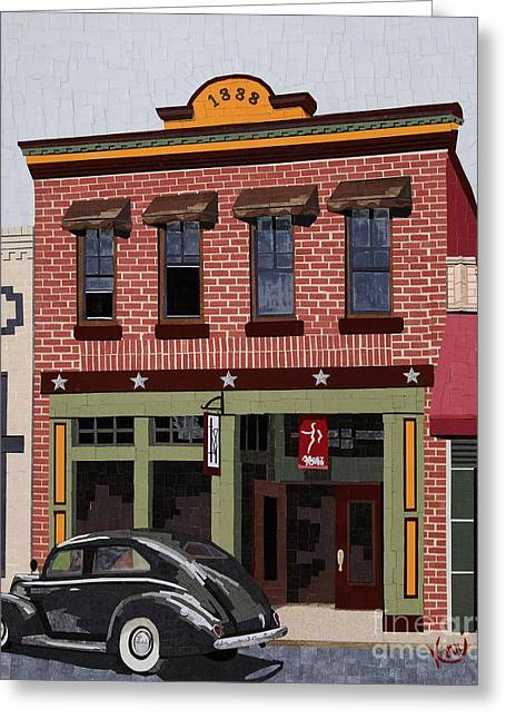 Old Town Mixed Media Greeting Cards - Old Town Greeting Card by Kerri Ertman