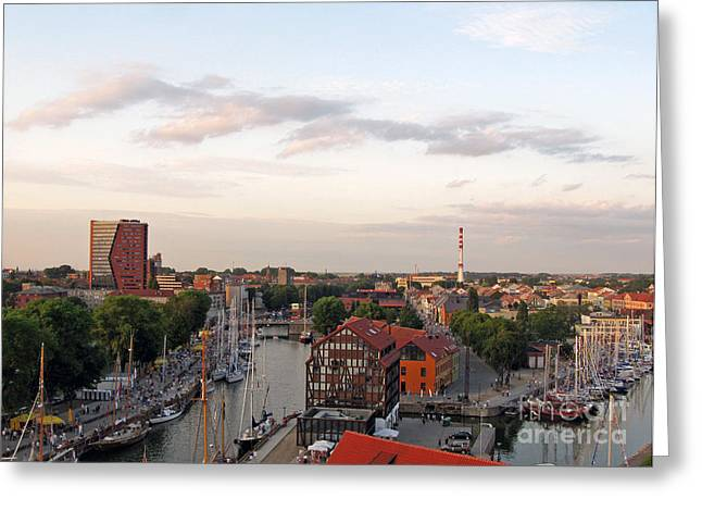 Historic Ship Greeting Cards - Old Town Klaipeda. Lithuania. Greeting Card by Ausra Paulauskaite