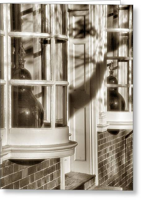White Frame House Greeting Cards - Old Town Windows Greeting Card by Steven Ainsworth