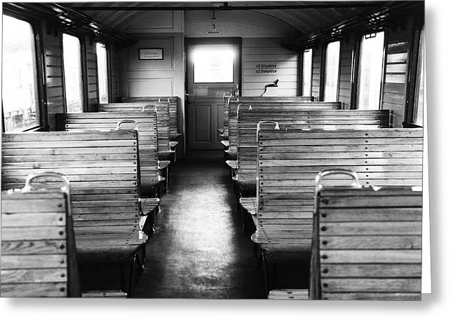 Zug Greeting Cards - Old train compartment Greeting Card by Falko Follert