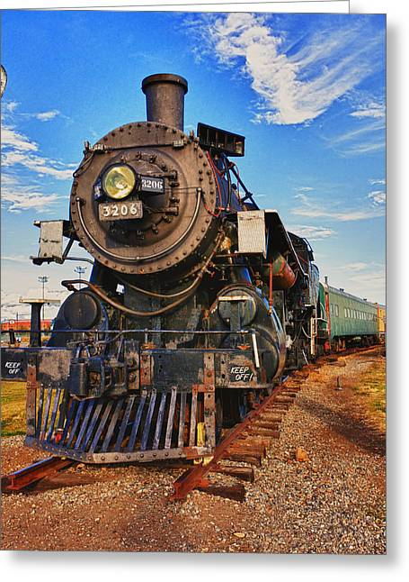Old Greeting Cards - Old train Greeting Card by Garry Gay