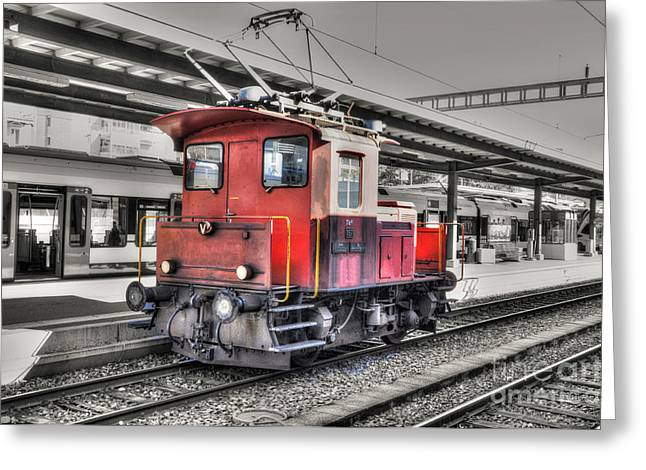 Station Wagon Greeting Cards - Old train Greeting Card by Mats Silvan
