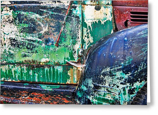 Fashion Pictures For Sale Greeting Cards - Old Truck Abstract Greeting Card by Tim Fleming