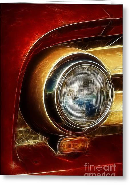 Old Truck Headlight Greeting Card by Darleen Stry