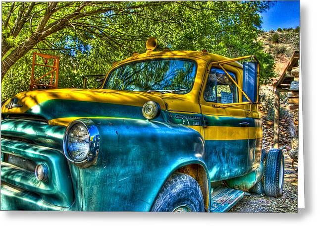 Old Relics Greeting Cards - Old Truck Greeting Card by Jon Berghoff