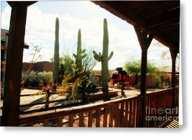 Old Tv Photographs Greeting Cards - Old Tuscon Movie Studio Theme Park Greeting Card by Susanne Van Hulst