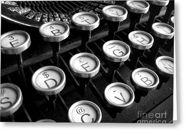 Typewriter Keys Greeting Cards - Old Typewriter Greeting Card by Kate McKenna