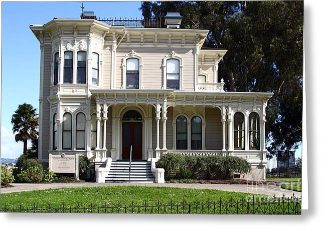 Work Area Greeting Cards - Old Victorian Camron-Stanford House . Oakland California . 7D13440 Greeting Card by Wingsdomain Art and Photography